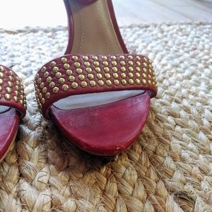 Zara Shoes - Zara Red Studded Heels
